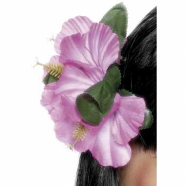 Roze haarklip bloemen
