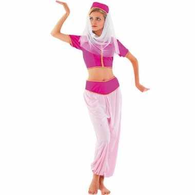 Roze harem prinses verkleedkleding