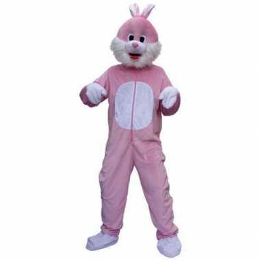 Roze konijnen verkleedkleding