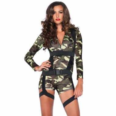 Sexy commando verkleedkleding voor dames