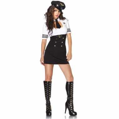 Sexy kapitein verkleedkleding voor dames