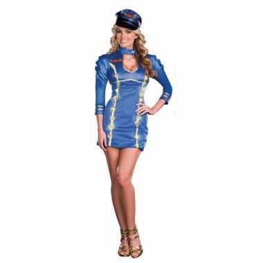 Sexy lichtgevende stewardessen verkleedkleding