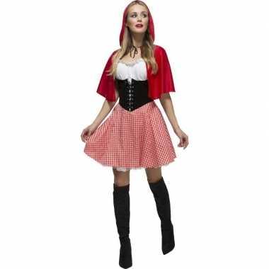 Sexy roodkapje verkleed verkleedkleding/jurkje voor dames