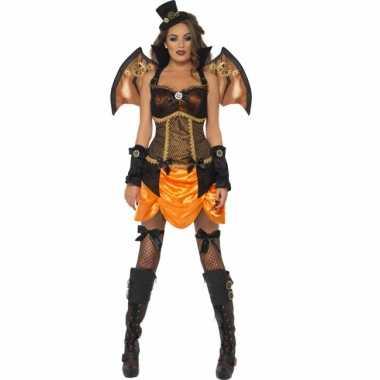 Sexy steampunk vleermuis verkleedkleding