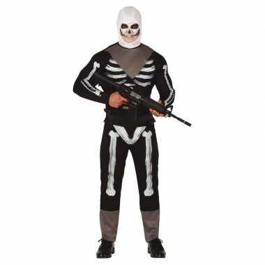 Skelet soldaat verkleed verkleedkleding voor heren