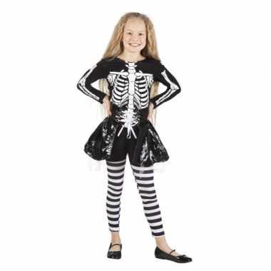 Skelet verkleedkleding voor meisjes