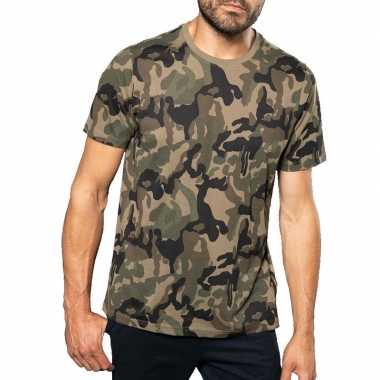Soldaten / leger verkleedkleding camouflage shirt heren