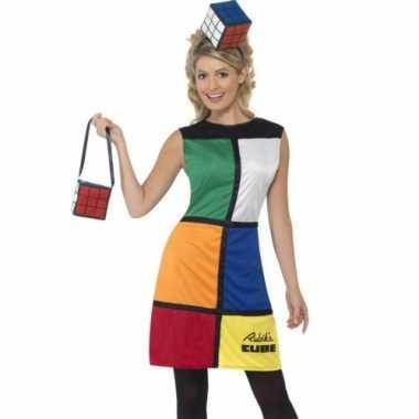 Spelletje rubiks kubus verkleedkleding