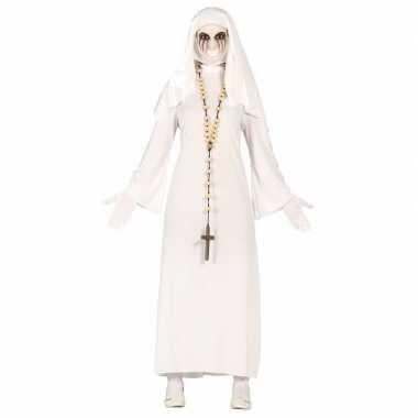 Spookachtige nonnen verkleedkleding voor dames