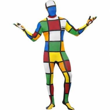 Strak rubiks kubus verkleedkleding