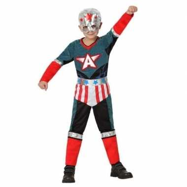 Superheld kapitein amerika pak/verkleed verkleedkleding voor jongens