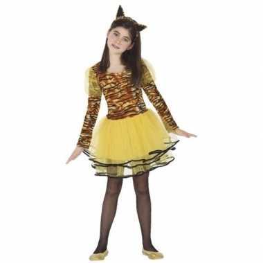 Tijgerin cara verkleedkleding voor meisjes