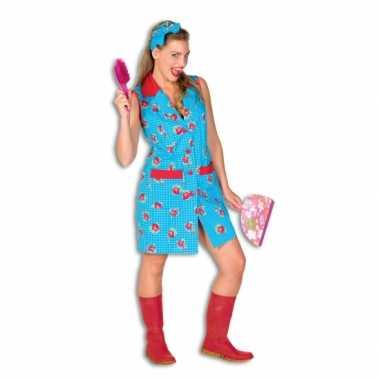 Toiletjuffrouw verkleedkleding met bloemen