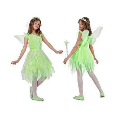 Toverfee/elfje flora verkleed verkleedkleding/jurkje voor meisjes gro