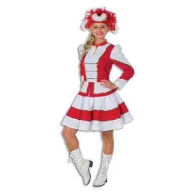 Twirl verkleedkleding voor dames rood met wit