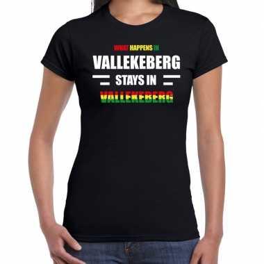 Valkenburg/vallekeberg verkleedkleding / t shirt zwart dames