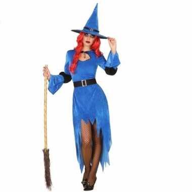 Verkleed verkleedkleding blauwe heks
