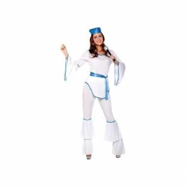 Verkleedkleding disco wit voor dames