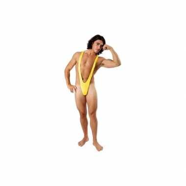 Verkleedkleding gele mankini