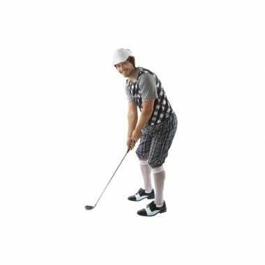 Verkleedkleding golfer zwart voor heren