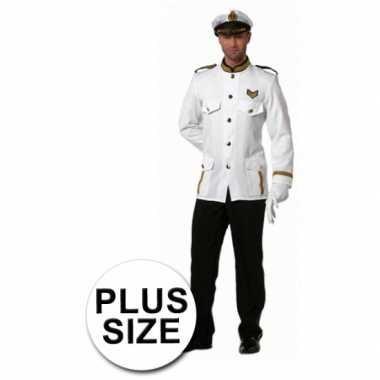 Verkleedkleding grote maten kapitein heren