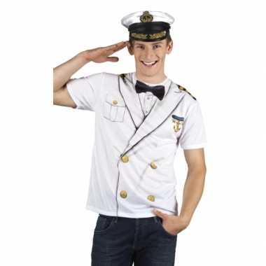 Verkleedkleding kapitein heren shirt