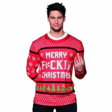 Verkleedkleding kerst heren shirt