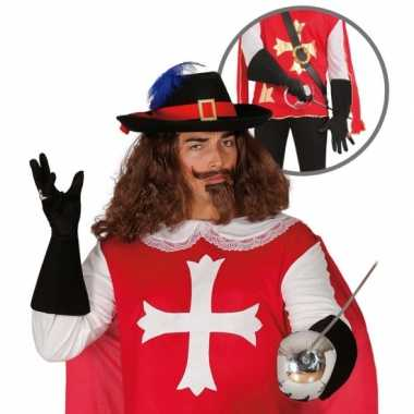Verkleedkleding musketier accessoire volwassenen
