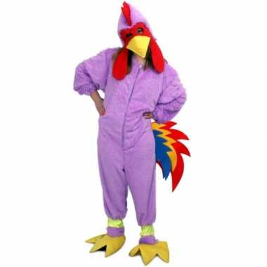 Verkleedkleding paarse kip