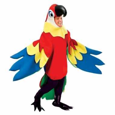 Verkleedkleding papegaai