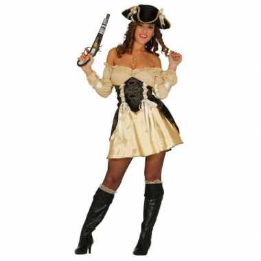 Verkleedkleding piratenjurkje geel
