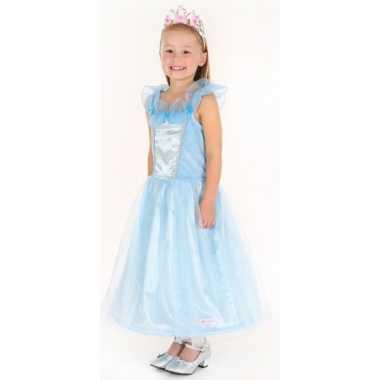 Verkleedkleding prinses blauw meisjes