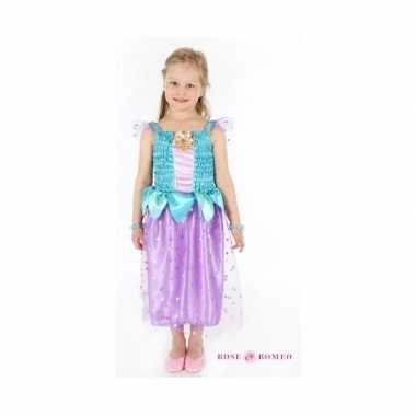 Verkleedkleding prinses blauw/paars meisjes