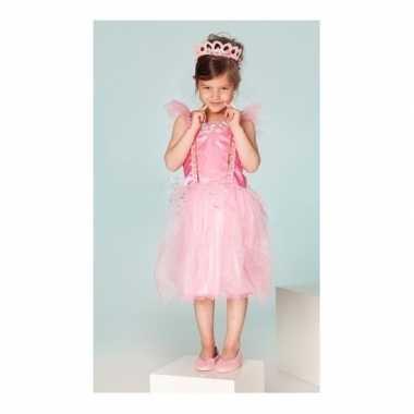 Verkleedkleding prinses fuchsia meisjes