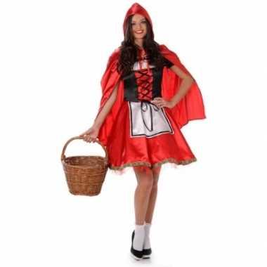 Verkleedkleding roodkapje voor dames