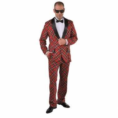 Verkleedkleding schotse ruit voor heren