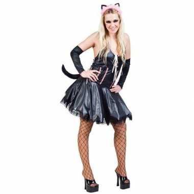 Verkleedkleding sexy kat/poes zwart