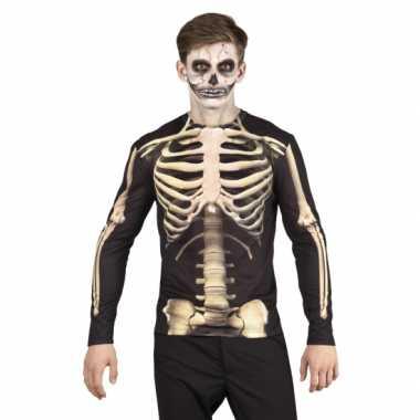 Verkleedkleding skelet heren shirt