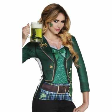 Verkleedkleding st. patricks day dames shirt
