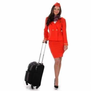 Verkleedkleding stewardess rood