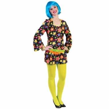 Verkleedkleding voor felgekleurde disco jurk