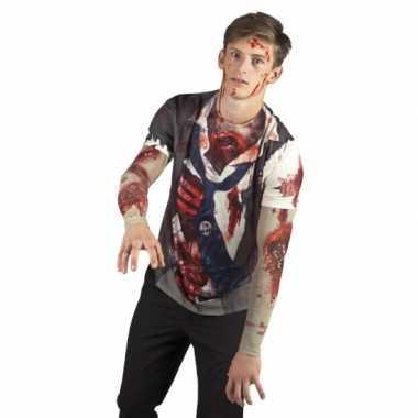 Verkleedkleding zombie man shirt