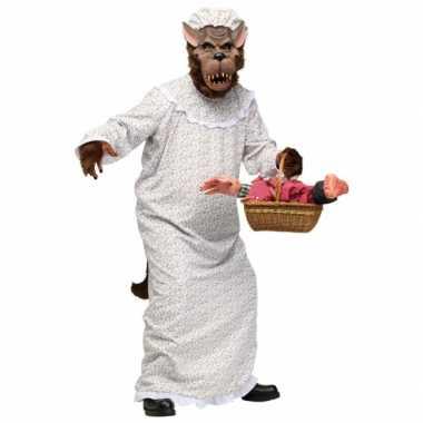 Verkleedverkleedkleding grote boze wolf