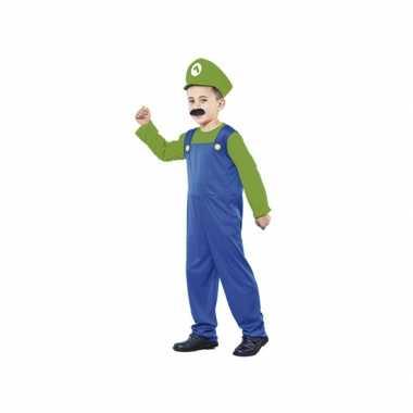 Voordelig groen loodgieter verkleedkleding voor jongens
