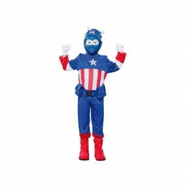 Voordelig superheld kapitein verkleedkleding voor jongens