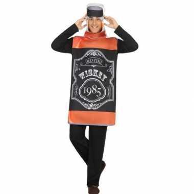 Whisky fles fun verkleed verkleedkleding voor volwassenen