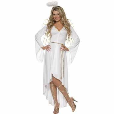 Wit engelen verkleedkleding voor dames