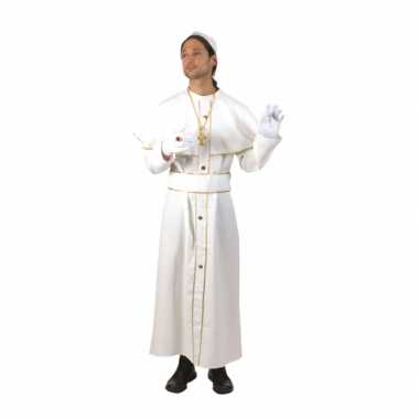 Wit feest verkleedkleding kardinaal
