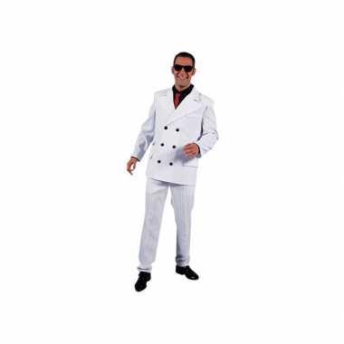 Wit gangster verkleedkleding voor heren