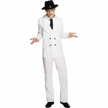 Witte gangster verkleedkleding voor mannen